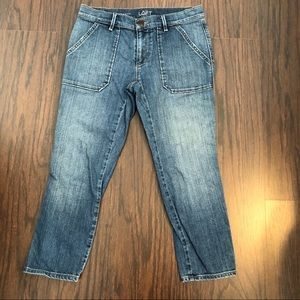 Ann Taylor loft jeans relaxed skinny crap size 2P
